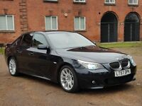 2007/57 BMW 535D M SPORT LCI CARBON BLACK RARE SPORT AUTOMATIC GEAR BOX WITH PADDLE SHIFT IMMACULATE