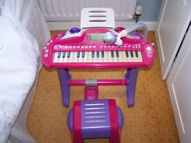 ELC childs piano with stool