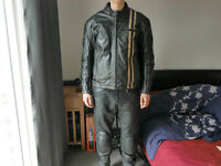 RK Sports motorbike leather jacket (small/medium size) and matching HELD gloves