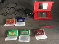 Nintendo DS with Pokemon games