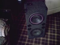 carpeted speaker cab and speakers