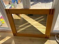 NEXT Large Oak Mirror - EXCELLENT CONDITION