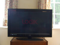 "LOGIK HD 32"" TV AND SPARE REMOTE. TWO HDMI PORTS"