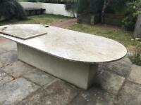 Solid Marble outdoor table top