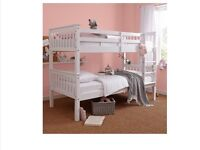 Novaro White Solid Pine Bunk Bed 3ft Single Beds RRP £349