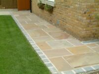 NEW 22MM PREMIUM GRADE INDIAN SANDSTONE PAVING - VARIOUS FINISHES AVAILABLE.
