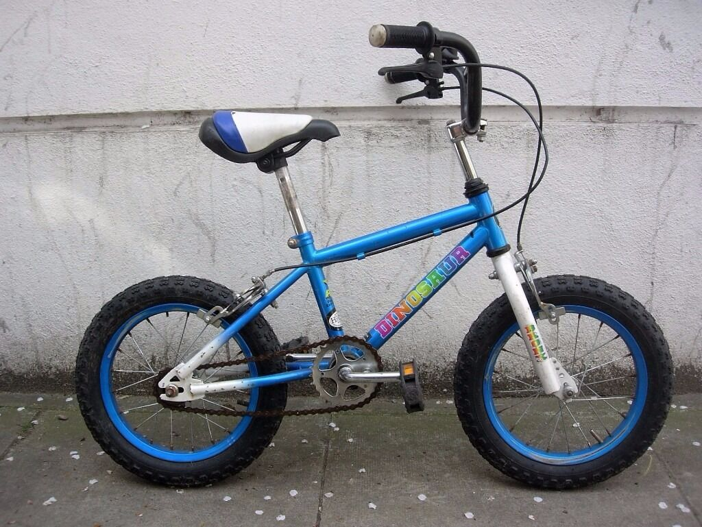 Kids Bike, Bronx Dinosaur, Blue, JUST SERVICEDCHEAP PRICE14 inch Wheels for Kids 4 Yearsin Camden Town, LondonGumtree - Kids Bike, Bronx Dinosaur, Blue, JUST SERVICED / CHEAP PRICE!!! 14 inch Wheels with Inflatable Tires Great for Kids 4 Years and Older Single Speed, Dual Caliper Brakes, Saddle has a Small Tear Good Condition! A Great First Bike Ready to Ride Away!!...