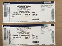 2 Chemical Brothers Tickets - Saturday 10th - Eventim Apollo - Seated