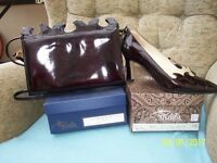 Renata leather shoes size 37.5 burgundy also renata leather handbag to match