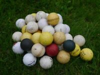 Mixed bag of 36 golf balls