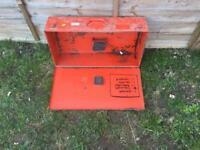 Various tool storage boxes Milwaukee Bosch kango
