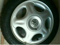 Vauxhall Costa starfish alloy wheels x 2 good tyres