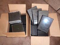 Empty DVD/CD boxes