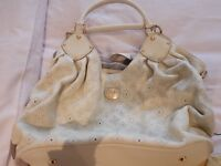 Louis Vuitton large Mahina leather handbag off white