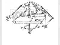 Q024 GC8 Impreza roll cage.