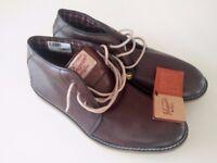NEW Original Penguin Brown Smart/Casual Shoes Mid Tops Size UK 7 / EU 41