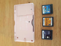 Nintendo Ds lite with a few games