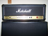Marshall 50w Guitar Amp Head with 4x12 Speaker Cab