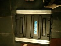 flight case. plastic 19in x 5in x 20in was used for amp.