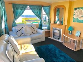 FIRST TO SEE WILL BUY!!!! 2 BEDROOM PERFECT STARTER STATIC CARAVAN FOR SALE-SEA VIEWS -PET FRIENLDY