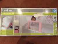 Lindam Bed Guard Pink (brand new)