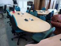 Boardroom table with retractable power points