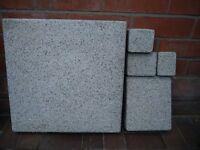 Paving Slabs - Marshells Argent Coarse, White & Blue/Grey granite aggregates