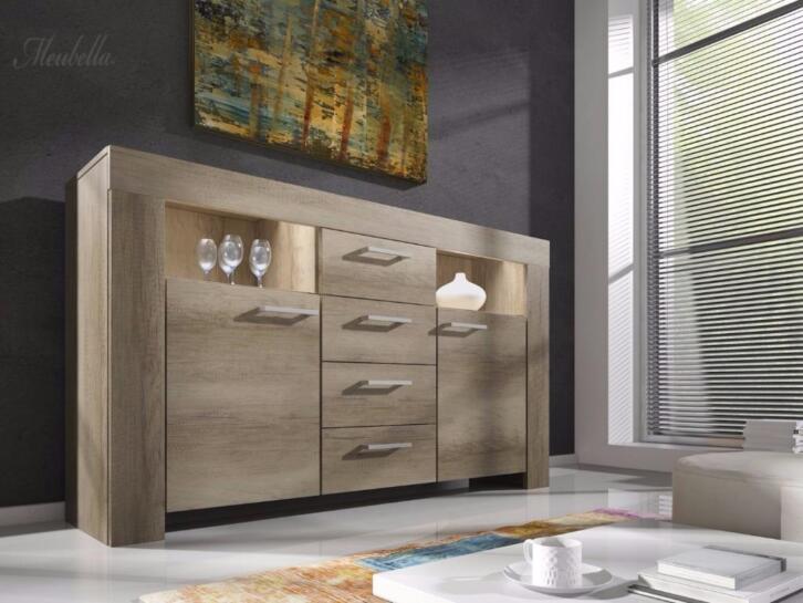 Complete Woonkamer - Grijs eiken - Inboedel - Set meubelen | 2dehands.be