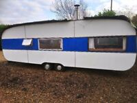 Retro 23ft caravan with wood burner