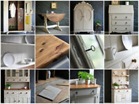 Welsh Dresser, Wardrobes, Bureaus, tables ****Painted furniture service-let us paint it for you****