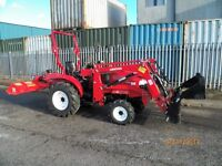 SIROMER 244e COMPACT TRACTOR,CLAM LOADER,QUALITY FLAIL