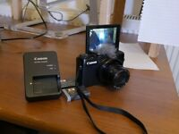 Canon Powershoot g7x Compact Camera (3 batteries) (Wind Muff) Great for Vlogging