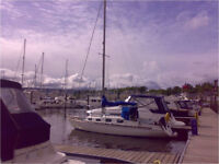 Small Cruising Yacht - Thompson 27 - based in the Clyde, ideal for relative newcomers sailing