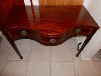 Antique George 111 Sheraton Console SERPENTINE Serving Table Sideboard Georgian