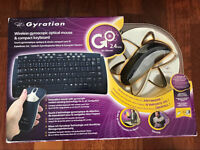 Gyration gyroscopic optical mouse compact and keyboard