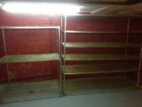 6 x Industrial Metal Racking / Shelving, Out Of A Bakery, Ideal For Shops / Garages Etc ....