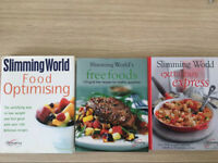 Selection of slimming world recipe books