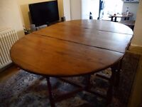 Beautiful Large Antique Solid Oak Dining Table