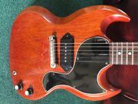 1962 Gibson Les Paul SG Junior Crocodile Case