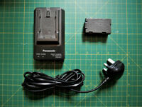 Genuine Panasonic Video Camera charger VSK0581 and battery CGR-D08R
