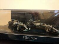 Minichamps 1:43 Mercedes F1 W07 2016 Nico Rosberg and Lewis Hamilton for sale  Brackley, Northamptonshire