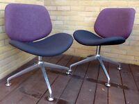 Orangebox Track Swivel Office Meeting Visitors Chair x 2 - in Devon