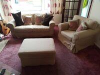 IKEA Ektorp 2 seater Sofa, Armchair and Foot stool
