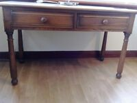 ERCOL CONSOLE TABLE, HALL TABLE, SIDE TABLE, LAMP TABLE