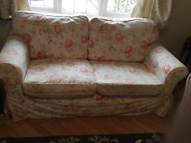 Cath Kidston Rosalie IKEA floral rose sofa three seater 3 beautiful cream pink red East Sussex