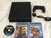 Ps4 500gb, with controller and 3 games. Excellent condition £190 NO OFFERS. CAN DELIVER