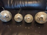 Disco Mirror Ball Christmas Tree Bauble Home Party Decoration