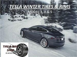 ~~~BRAND NEW TESLA WINTER TIRES & RIMS FOR MODEL 3, X & S ---- ON SALE & TIRE & RIM SHOP~~~