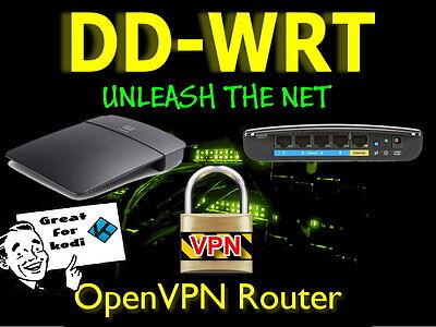 Cisco Linksys N300 E900 OpenVPN Mega Build WIFI Cable VPN Router DD-WRT. Anon