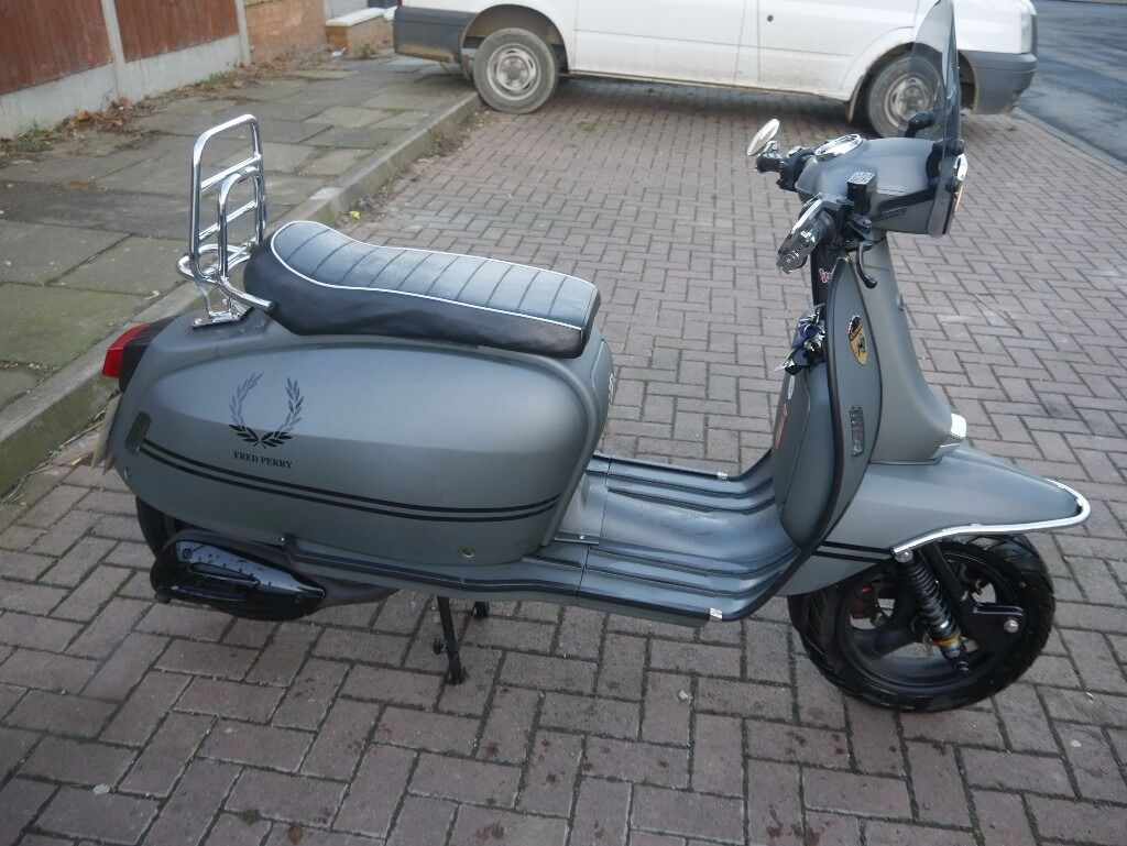 Scomadi Tl 125 Matt Grey Scooter Like Vespa Lambretta